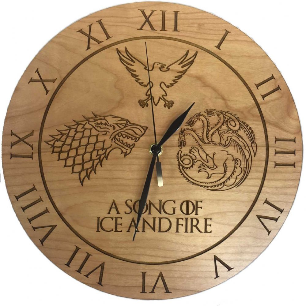 Game Of Thrones Inspired A Song Of Ice And Fire Cherry Clock